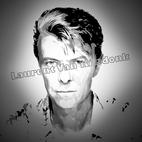 Portrait dessin David Bowie